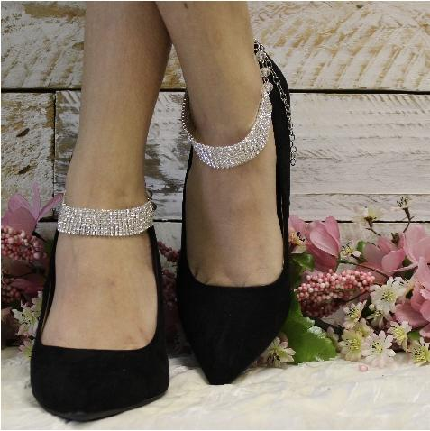 rhinestone barefoot sandals - wedding shoe jewelry