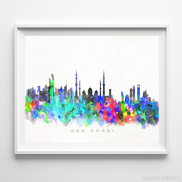 Abu Dhabi, United Arab Emirates Skyline Watercolor Print-Poster-Wall_Art-Home_Decor-Inkist_Prints