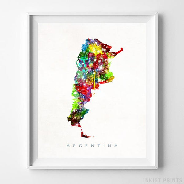 Argentina Watercolor Map Print-Poster-Wall_Art-Home_Decor-Inkist_Prints
