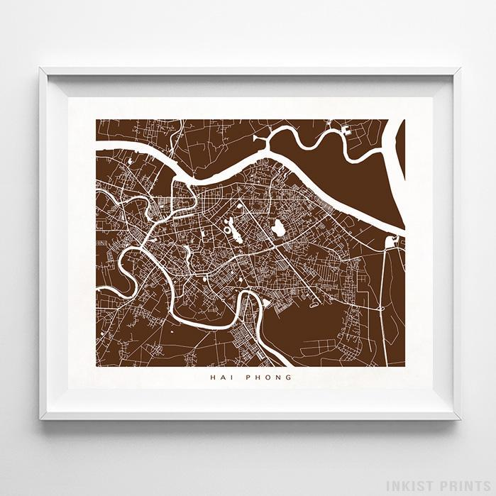 Hai Phong, Vietnam Street Map Horizontal Print-Poster-Wall_Art-Home_Decor-Inkist_Prints
