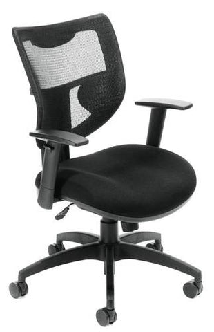 ComfySeat™ Mid-Back Swivel Chair with Mesh Back
