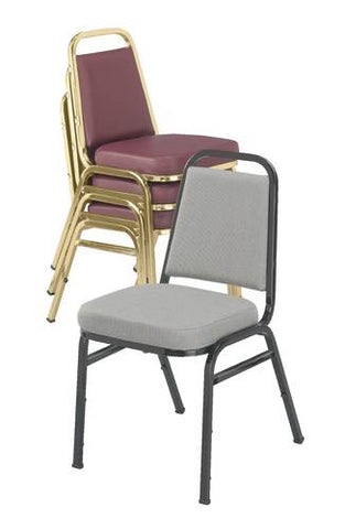 "Vinyl-Upholstered Stacking Chair, 2"" Seat"