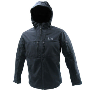 Tactical Hunting Softshell Hooded Jacket - Black