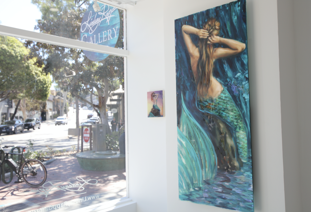 """Siren Sonata"" <br/> Original Painting <br/> in Private Collection at Laguna Beach, California"