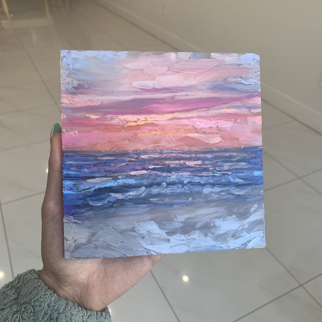"""Sunset"" <br/> Original Painting <br/> 6""x6"""