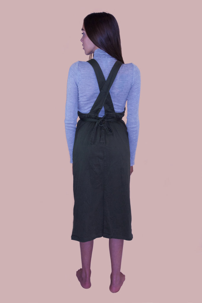 1990s Green Cotton Pinafore