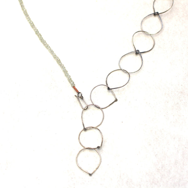 Sterling Silver & Labradorite Fused Teardrop Chain Necklace