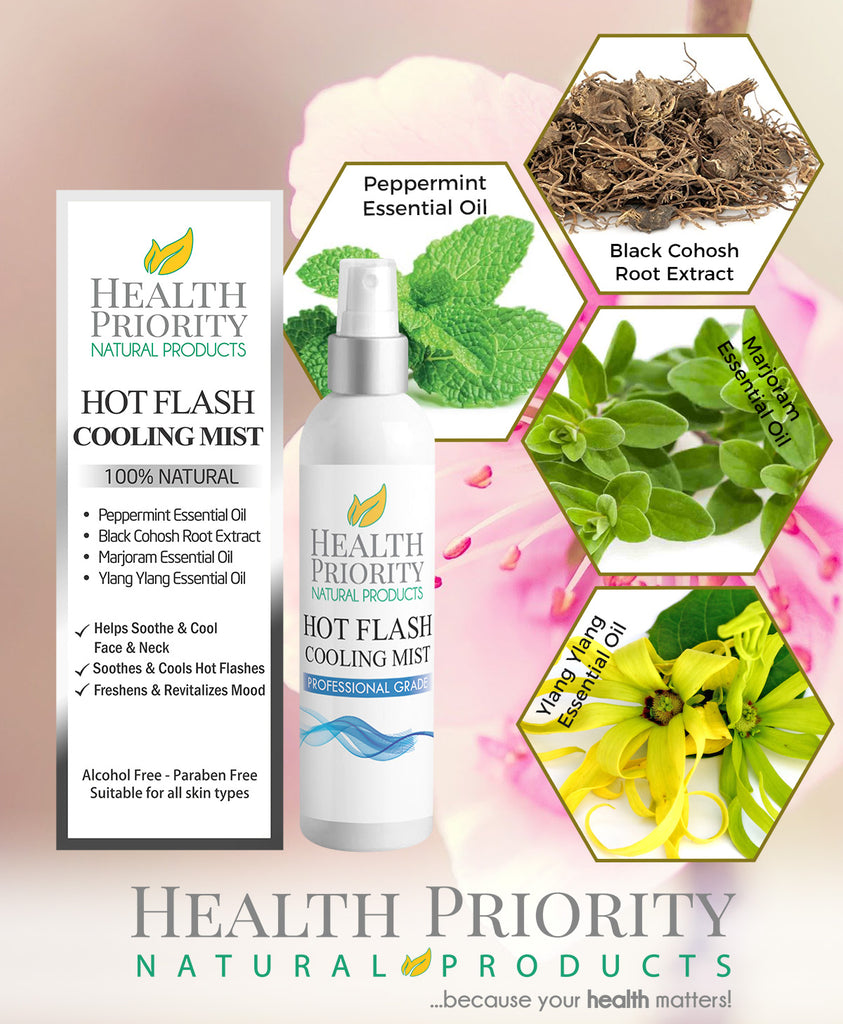 Natural & Organic Menopause & Hot Flash Body Lotion + Cooling Mist