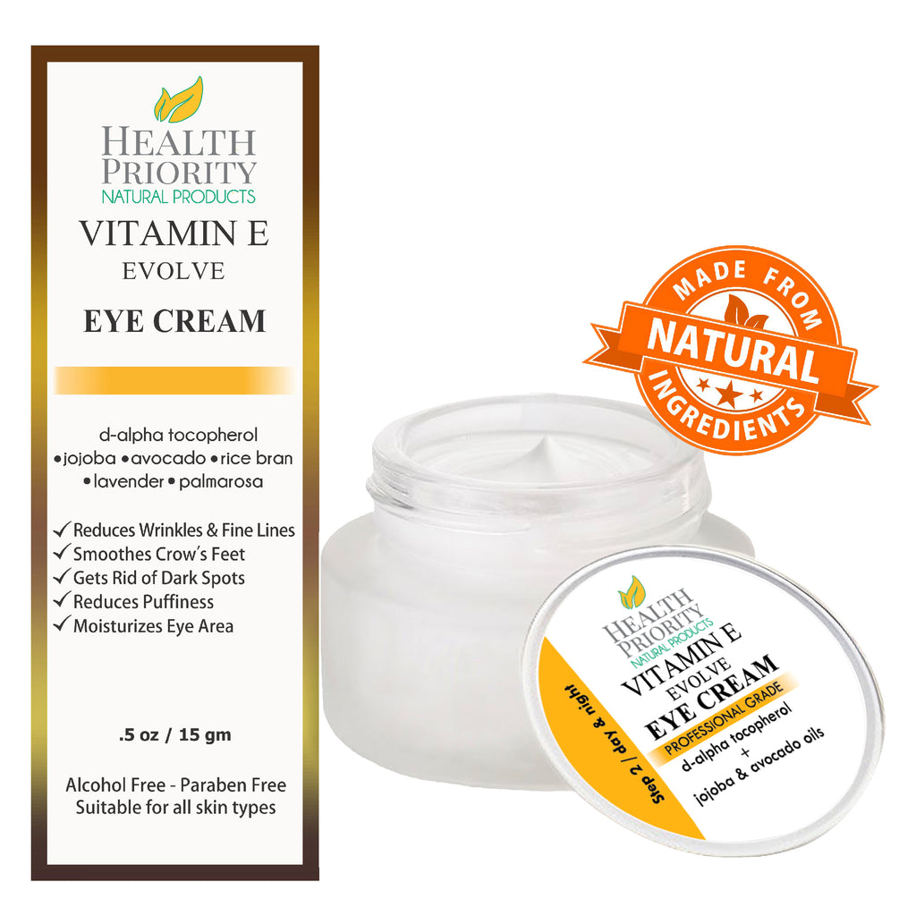 Vitamin E Skincare System. Includes Vitamin E Oil, Eye Cream, Daytime Moisturizer with SPF 30, Moisturizer, Exfoliating Scrub & Cleanser.