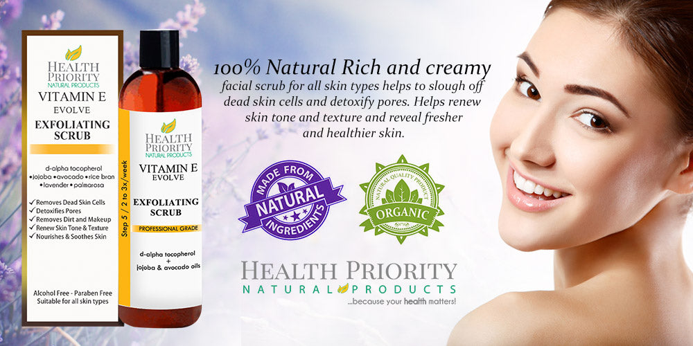 100% Natural Vitamin E Exfoliating Facial Scrub