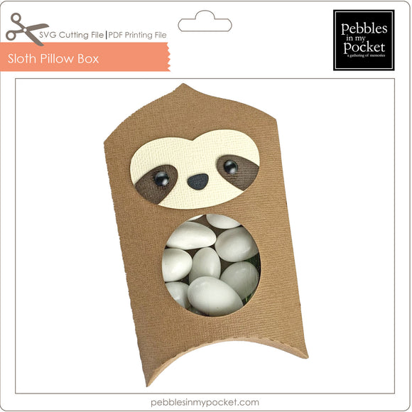 Sloth Pillow Box Digital Download SVG & Pdf