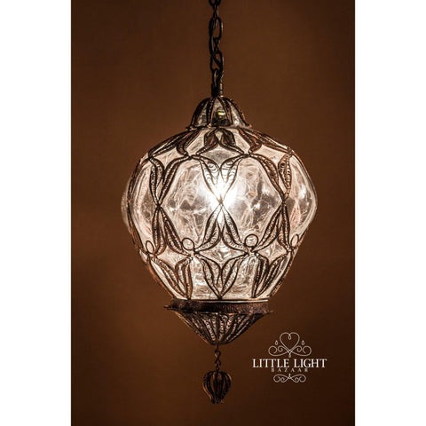 Rani Moroccan Lantern - Black with Gold Inside