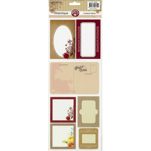 Ruby Rock-it Eklectique cardstock stickers