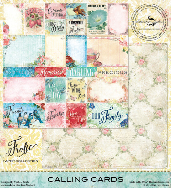 Blue Fern Studios Paper Collection - Frolic - Calling Cards
