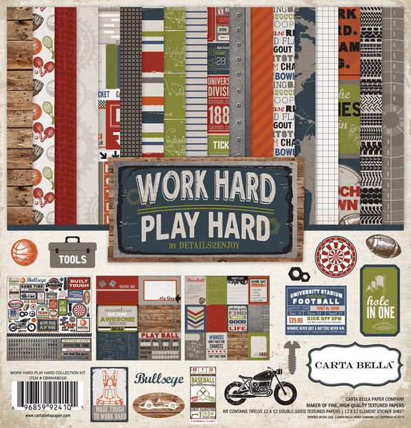 Carta Bella Work Hard Play Hard Double-Sided Paper Collection