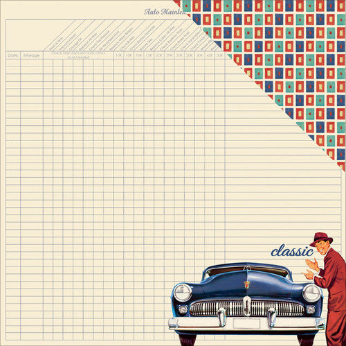 Authentique - Dapper - Classic car/rectangle #2