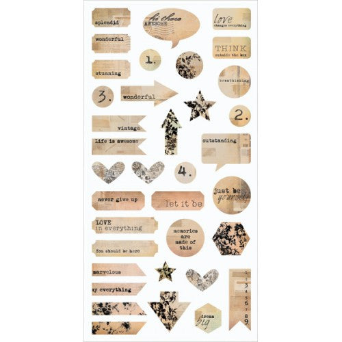 7 Dots Studio Paper Collection - Thought Keeper - Stickers