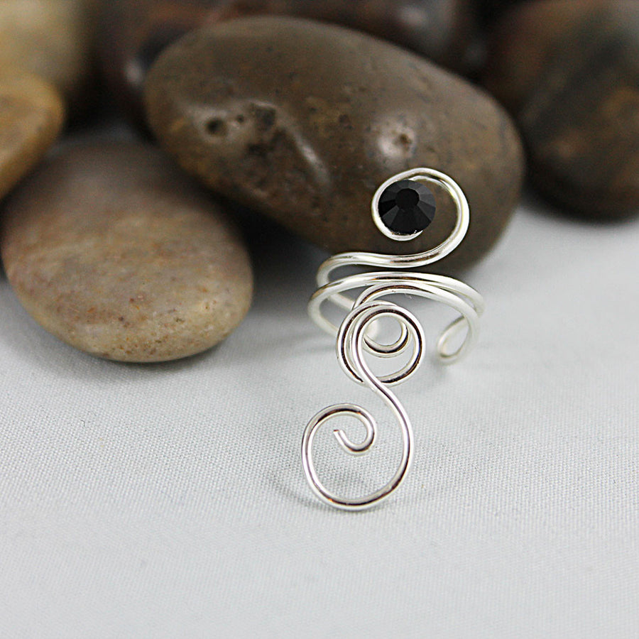Silver Wire Wrapped Swirl Ring
