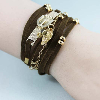 Brown Suede Boho Bracelet