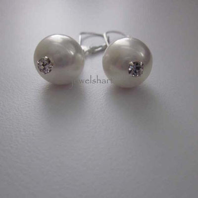 Elegant Pearl Dangle Bridal Earrings