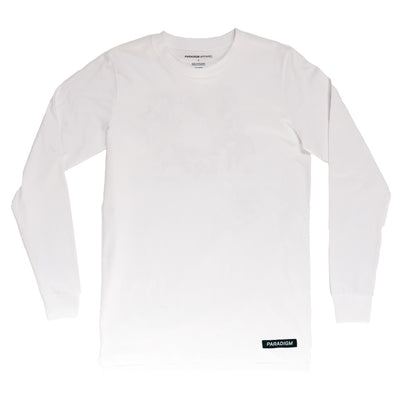 Swoop White LS T-Shirt - Paradigm Apparel