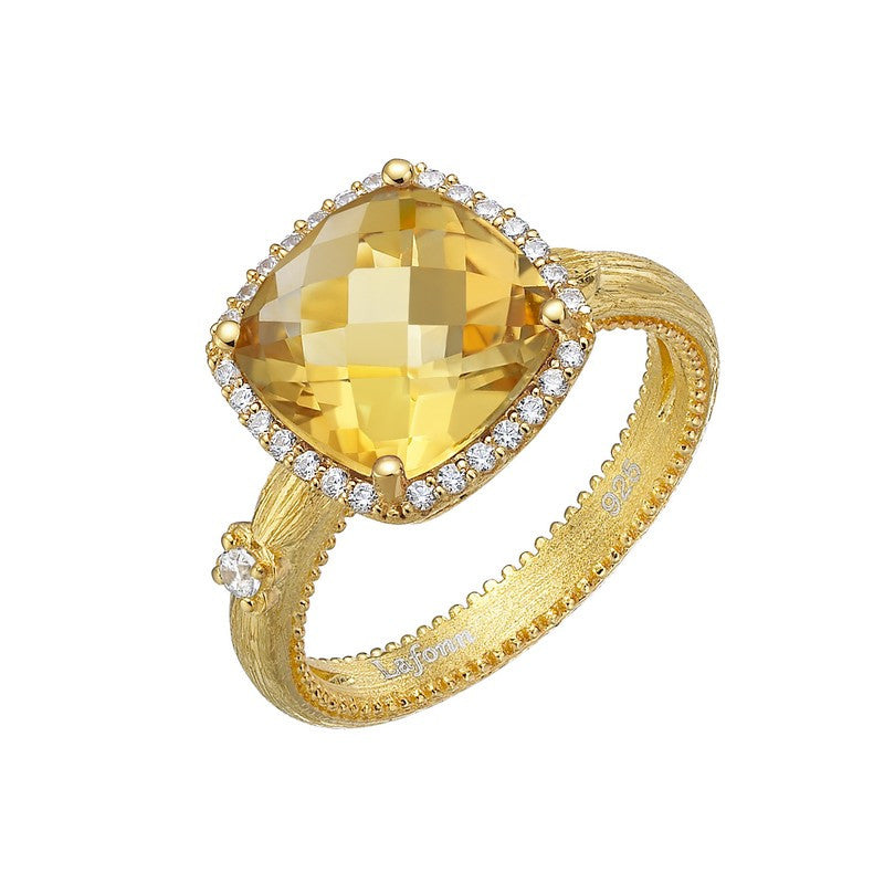 Lafonn Signature Lassaire Simulated Diamond and Genuine Citrine Ring GR022CTG05