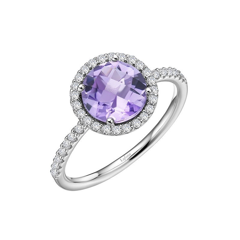 Lafonn Signature Lassaire Simulated Diamond Genuine Amethyst Ring GR025AMP05