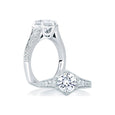 A.Jaffe Deco Pentilinear Pave Engagement Ring MES646/106