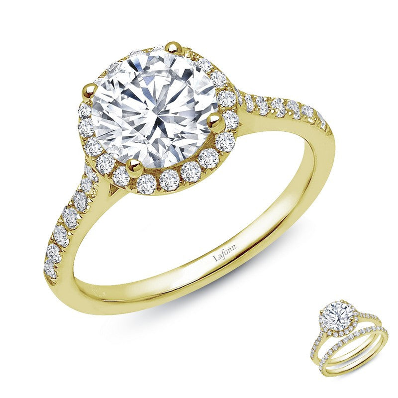 Lafonn Signature Lassaire Simulated Canary Diamond Halo Ring R2010CLG