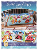 Snowman Village Pillow