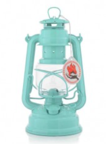 "Pastel Green Hurricane Oil Lantern. 10""  Made in Germany."
