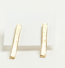 Tall Bar Stud Earrings