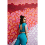 *High Waist Brazilian Crunch in Aqua Color