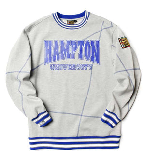 "Hampton University Original '92 ""Frankenstein"" Crewneck MDH Grey/Blue"