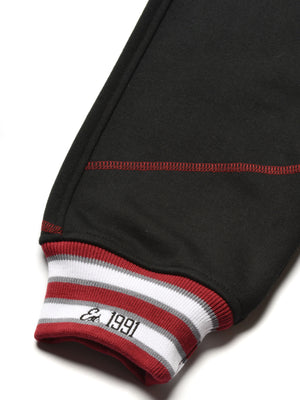 "AACA Original '92 ""Frankenstein"" Stitched Sweatpants Black/Red"