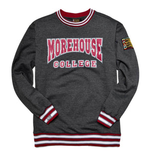 Morehouse College Classic '91 Crewneck Sweatsuit Charcoal Grey
