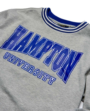 Hampton University Classic '91 Crewneck MDH Grey/Blue
