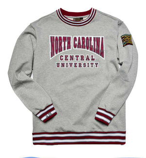 North Carolina Central University Classic '91 Crewneck Sweatsuit MDH Grey