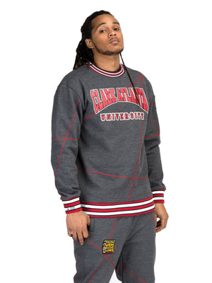 "AACA Original '92 ""Frankenstein"" Stitched Sweatpants Charcoal Grey/Red"