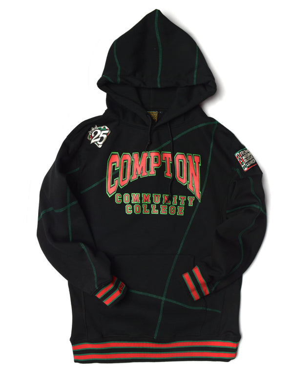 "FTP Compton Community College AACA Original '92 ""Frankenstein"" Stitched Hoodie Black/Green"