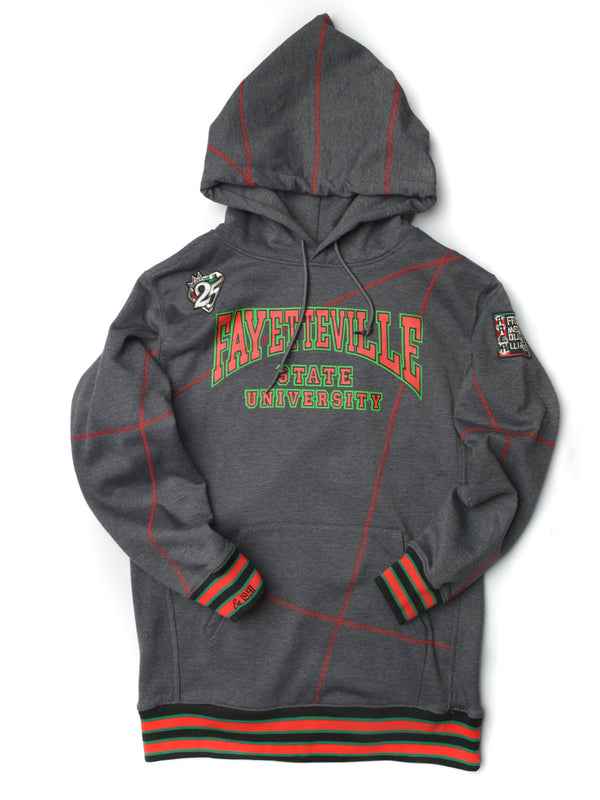 "FTP Fayetteville State University Original '92 ""Frankenstein"" Stitched Hoodie Charcoal Grey / Red"