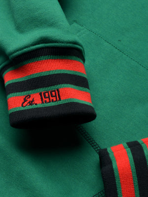 "FTP Norfolk State University AACA Original '92 ""Frankenstein"" Stitched Hoodie Sweatsuit Kelly Green/Black"