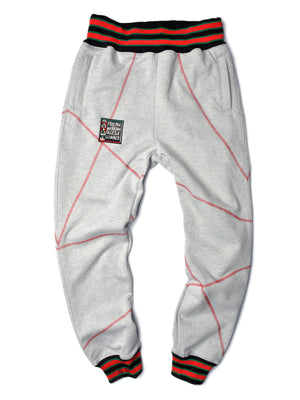 "FTP Original '92 ""Frankenstein"" Stitched Sweatpants MDH Grey/Red"
