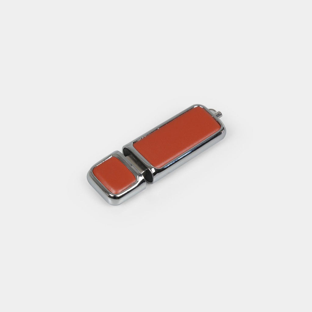 Pen Drive Leather Button
