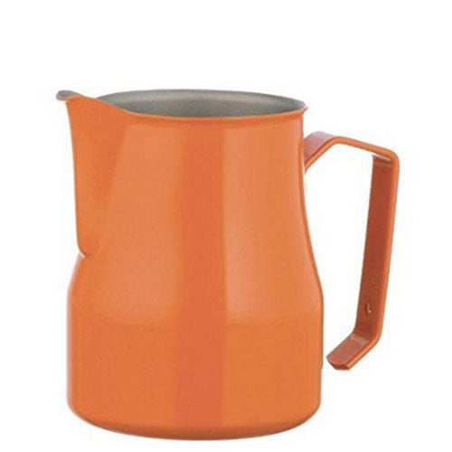 Motta Stainless Steel Professional Milk Pitcher/Jugs, 11.8-floz / 35-cl, Orange