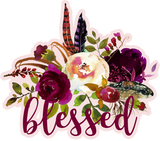 Blessed Graphic Tee {M2M Eggplant Polka Dot Button Leggings}