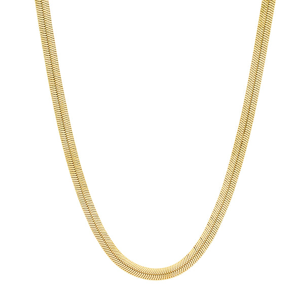 Silky Tie Necklace. Gold Vermeil