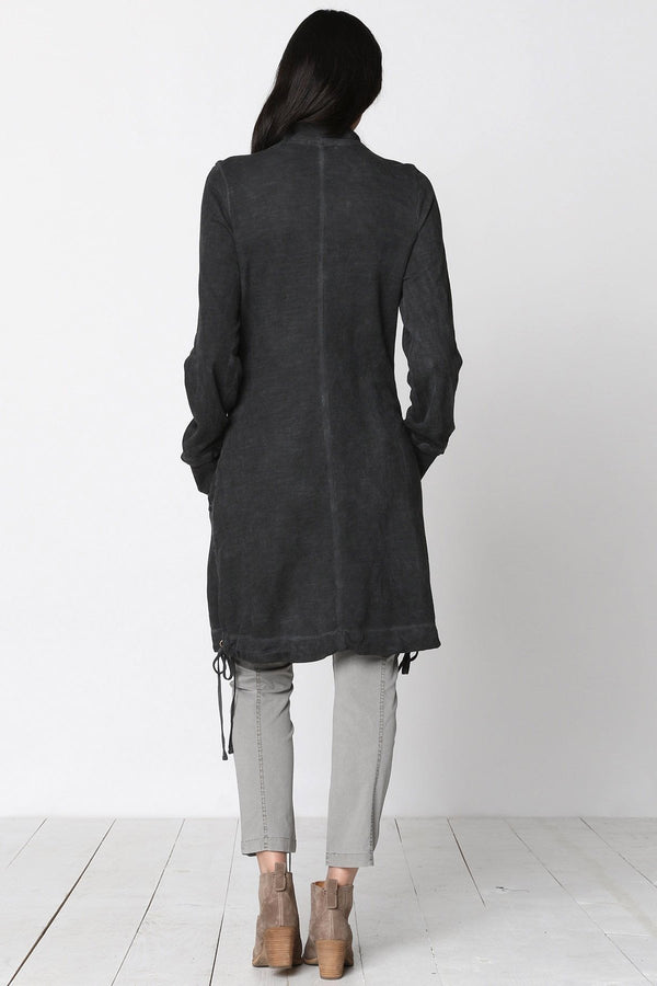 Funnel Neck Long Jacket