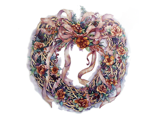 Grapevine Floral Wreath 12279