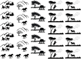 "Horse Scenes 7/8"" to 1-1/4""  Black #329 or White #587 Fused Glass Decals"